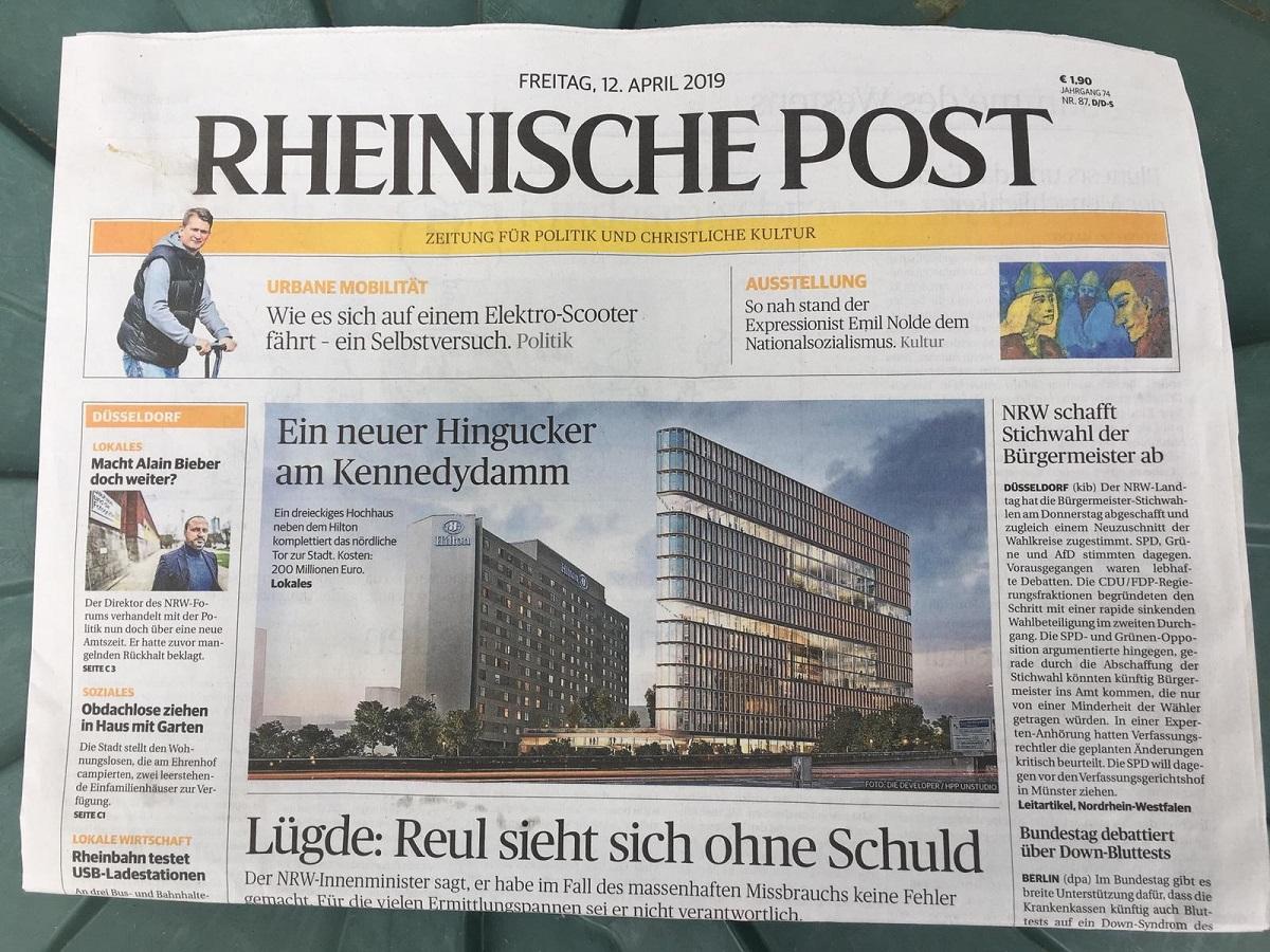 Mobile Redaktion der Rheinischen Post im Stadtbezirk 8 ...